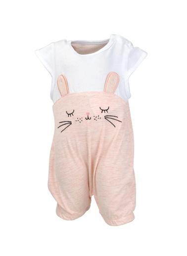 Mininio Pembe Bunny Kulaklı Tulum (0-18ay) Pembe Bunny Kulaklı Tulum (0-18ay) Pembe